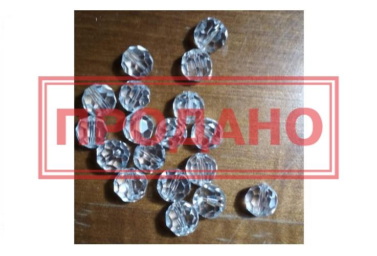 Бусинки Рондель – хрусталь прозрачная диаметр 14 мм