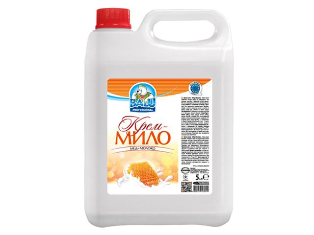 Крем-мило BALU Мед-Молоко 5 л/пт