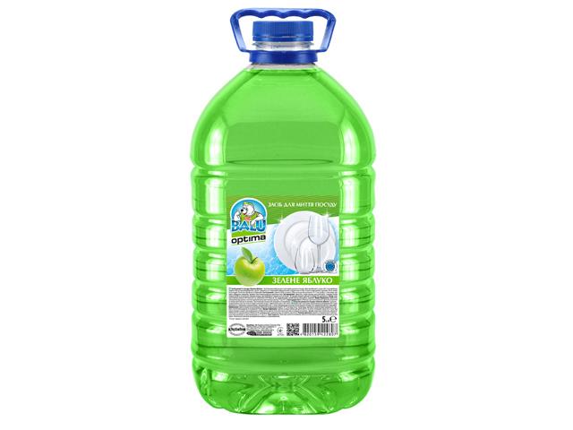 Засіб для миття посуду BALU OPTIMA Зелене яблуко 5 л/пет