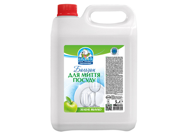 Бальзам для миття посуду BALU Зелене яблуко 5 л/пт