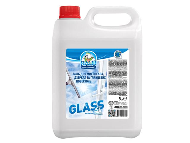Засіб для миття скла, дзеркал та глянцевих поверхонь BALU GLASS 5 л/пт