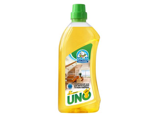Універсальний засіб для миття підлоги та інших поверхонь BALU UNO Лимон 1000 мл/пет