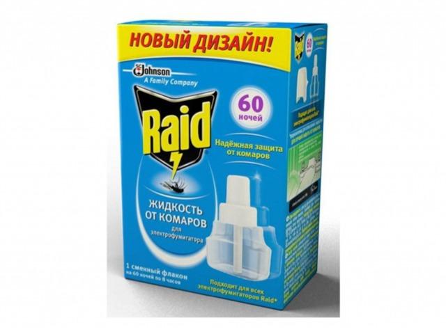 Жидкость от комаров RAID 60 ночей