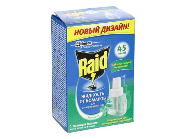 Жидкость от комаров RAID 45 ночей