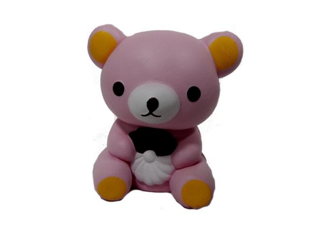 Сквиши-антистресс Розовый Мишка 11-12 см