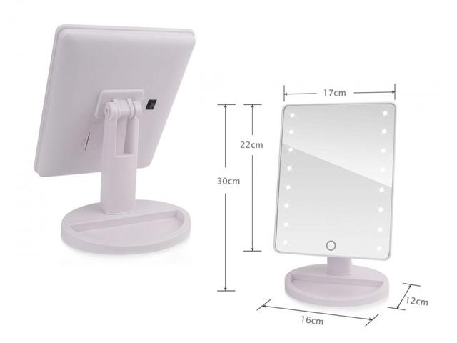 Зеркало с подсветкой 16 лед с Large LED Mirror