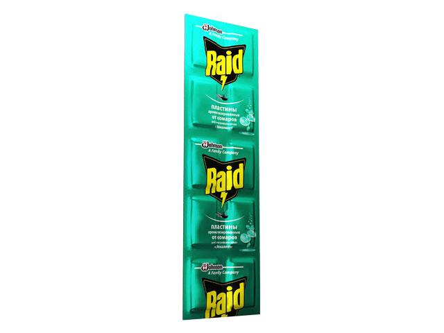 Пластины от комаров RAID Эвкалипт (10 шт/уп)