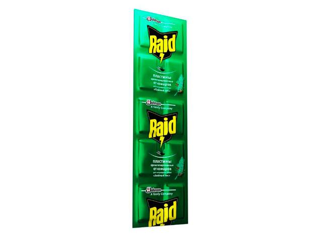 Пластины от комаров RAID Хвойный лес (10 шт/уп)