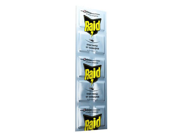 Пластины от комаров RAID для регулярного использования (10 шт/уп)
