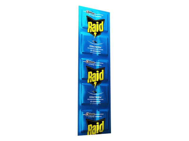 Пластины от комаров RAID на алюминиевой основе (10 шт/уп)