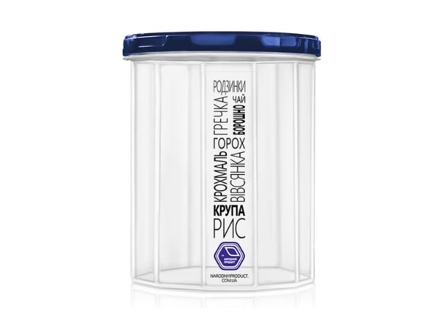 Ёмкость для сыпучих продуктов 1,0 л (индиго крышка)