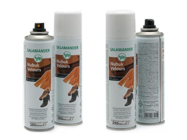 Аэрозоль Salamander Nubuck Velours 009 Черный 250 ml