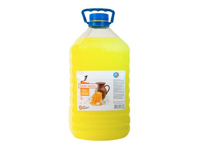 Жидкое крем-мыло МОЛОКО МЕД 5л ТМ ICE BLIK