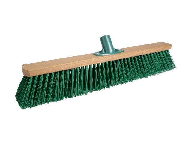 Щетка для улицы 500 мм Зеленый РЕТ с пластмассовым креплением