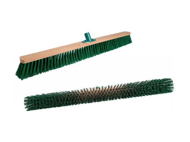 Щетка для улицы 800 мм Зеленый РЕТ с пластмассовым креплением