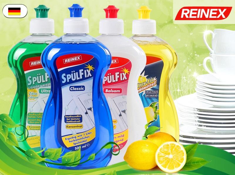 Жидкое концентрированное средство для мытья посуды Reinex Konzentrat 500 мл (4 вида)