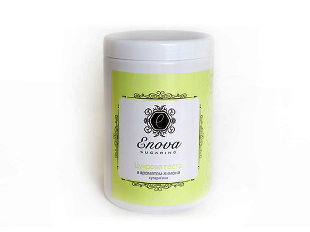 Сахарная паста для эпиляции Enova супер-мягкая (желтая) с ароматом лимона и лайма 1400 гр