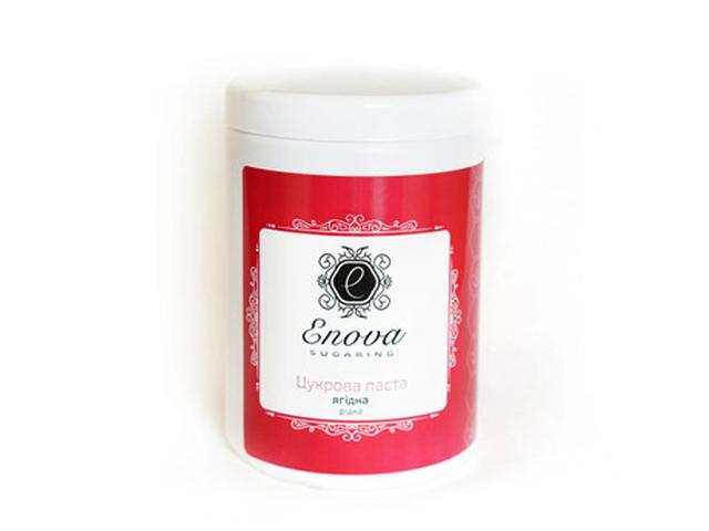 Сахарная паста для эпиляции Enova жидкая (малиновая) с ароматом ягод 1400 гр