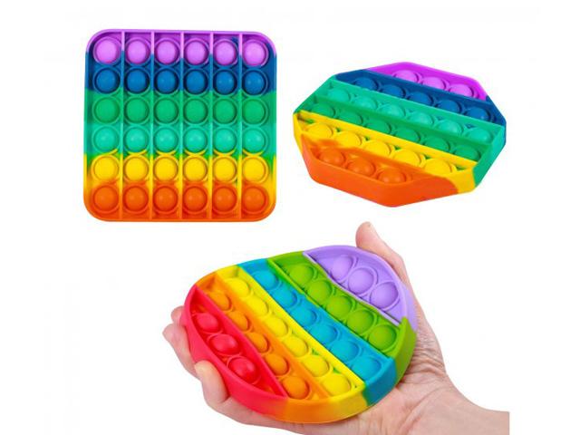 Антистресс силиконовая игрушка pop it разноцветная